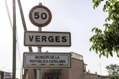 Municipi de la República catalana. Verges, july 2018.